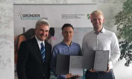Überreichung des Gründerstipendiums NRW an goFLUX