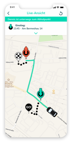 Screenshot der route D-App