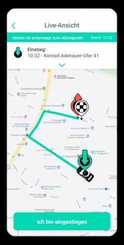 Screenshot der route D-App
