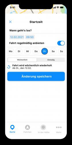 Fahrt durch LiveView verfolgen in der goFLUX-App
