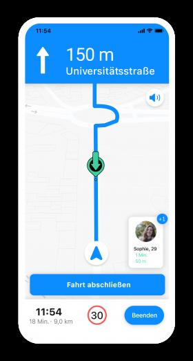 Navigation für Fahrende